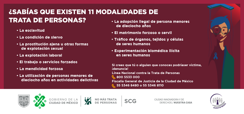 Día mundial contra la trata de personas.