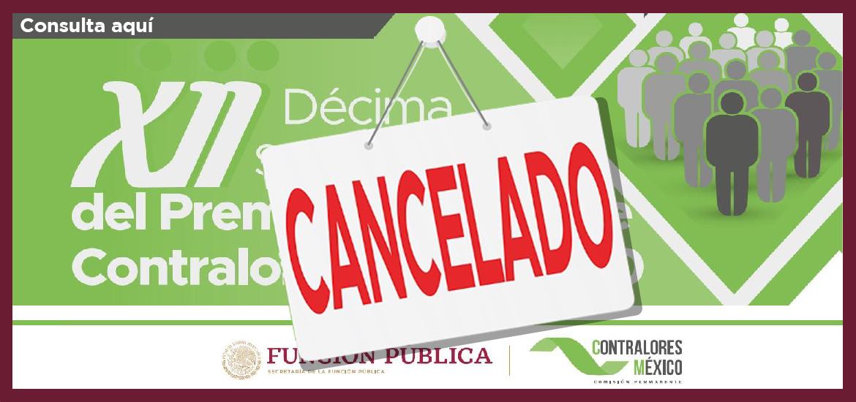 Cancelacion Premio Nacional de Contraloria Social 2020