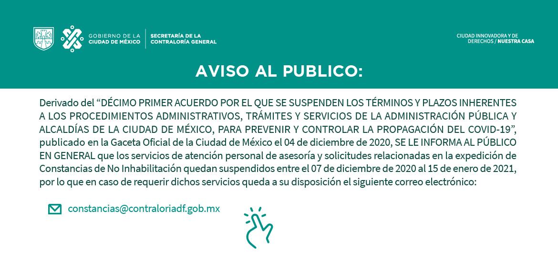 Suspension de servicios al publico