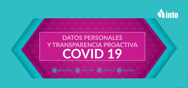 Datos personales y transparencia proactiva Covid-19 INFO DF